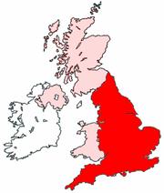 poloha Anglie v Spojeném Království