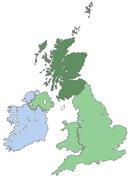 Poloha Skotska v UK